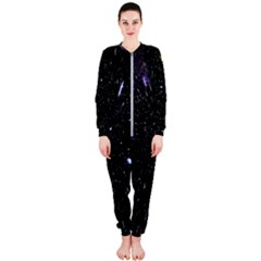 Space Warp Speed Hyperspace Through Starfield Nebula Space Star Hole Galaxy Onepiece Jumpsuit (ladies)  by Mariart