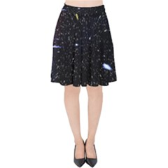 Space Warp Speed Hyperspace Through Starfield Nebula Space Star Hole Galaxy Velvet High Waist Skirt by Mariart
