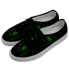 Space Green Hypnotizing Tunnel Animation Hole Polka Green Men s Classic Low Top Sneakers by Mariart