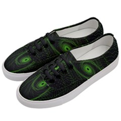 Space Green Hypnotizing Tunnel Animation Hole Polka Green Women s Classic Low Top Sneakers by Mariart
