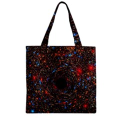 Space Star Light Black Hole Zipper Grocery Tote Bag by Mariart