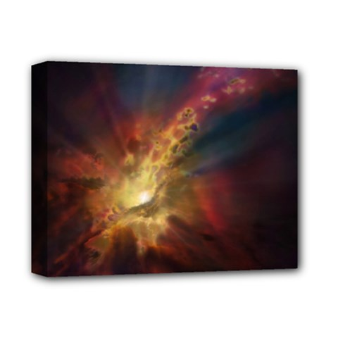 Sun Light Galaxy Deluxe Canvas 14  X 11  by Mariart