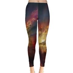 Sun Light Galaxy Leggings  by Mariart