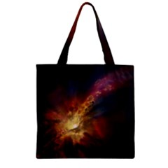 Sun Light Galaxy Zipper Grocery Tote Bag by Mariart