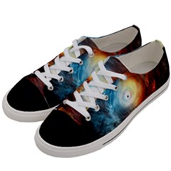 Supermassive Black Hole Galaxy Is Hidden Behind Worldwide Network Women s Low Top Canvas Sneakers by Mariart