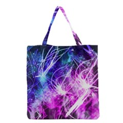 Space Galaxy Purple Blue Grocery Tote Bag by Mariart
