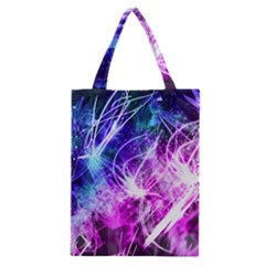 Space Galaxy Purple Blue Classic Tote Bag by Mariart