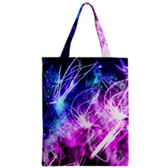 Space Galaxy Purple Blue Zipper Classic Tote Bag by Mariart