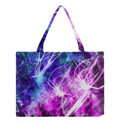 Space Galaxy Purple Blue Medium Tote Bag by Mariart