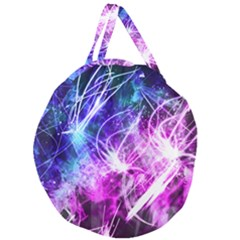 Space Galaxy Purple Blue Giant Round Zipper Tote by Mariart