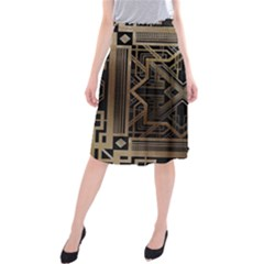 Art Nouveau Midi Beach Skirt