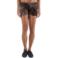 Art Nouveau Yoga Shorts