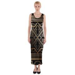 Art Nouveau Fitted Maxi Dress