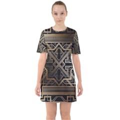 Art Nouveau Sixties Short Sleeve Mini Dress