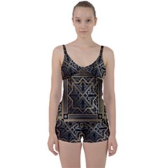 Art Nouveau Tie Front Two Piece Tankini