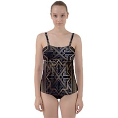 Art Nouveau Twist Front Tankini Set