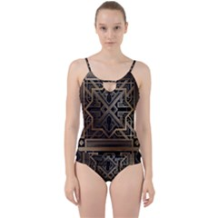 Art Nouveau Cut Out Top Tankini Set