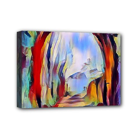 Abstract Tunnel Mini Canvas 7  X 5