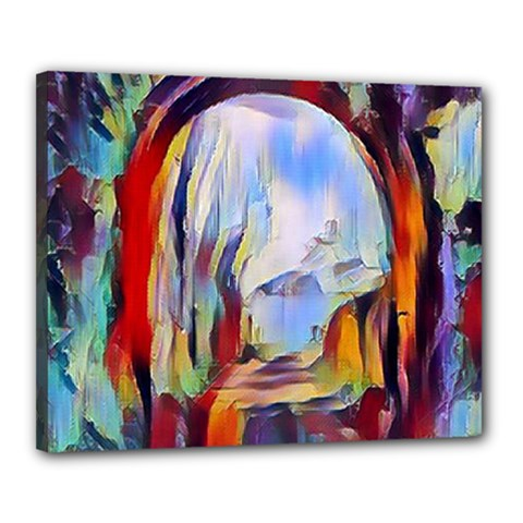 Abstract Tunnel Canvas 20  X 16  by 8fugoso