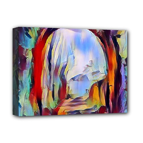 Abstract Tunnel Deluxe Canvas 16  X 12