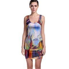 Abstract Tunnel Bodycon Dress