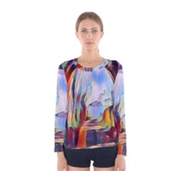 Abstract Tunnel Women s Long Sleeve Tee