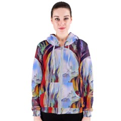 Abstract Tunnel Women s Zipper Hoodie