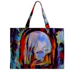 Abstract Tunnel Zipper Mini Tote Bag
