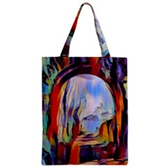 Abstract Tunnel Zipper Classic Tote Bag