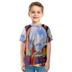Abstract Tunnel Kids  Sport Mesh Tee