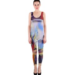 Abstract Tunnel Onepiece Catsuit