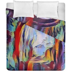 Abstract Tunnel Duvet Cover Double Side (california King Size)