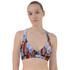 Abstract Tunnel Sweetheart Sports Bra