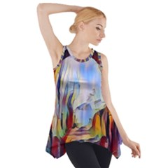 Abstract Tunnel Side Drop Tank Tunic