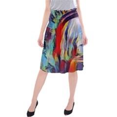 Abstract Tunnel Midi Beach Skirt
