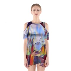 Abstract Tunnel Shoulder Cutout One Piece