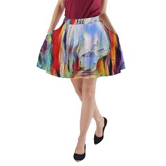 Abstract Tunnel A Line Pocket Skirt