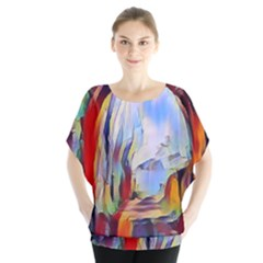 Abstract Tunnel Blouse