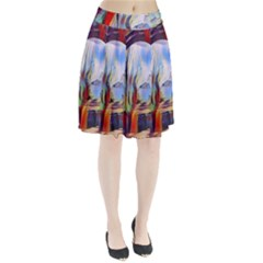 Abstract Tunnel Pleated Skirt