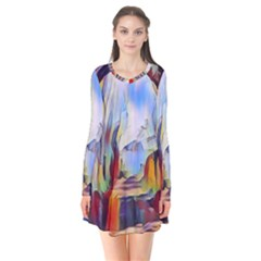 Abstract Tunnel Flare Dress