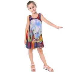 Abstract Tunnel Kids  Sleeveless Dress