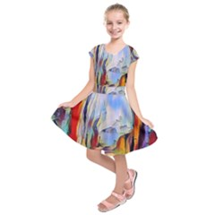 Abstract Tunnel Kids  Short Sleeve Dress
