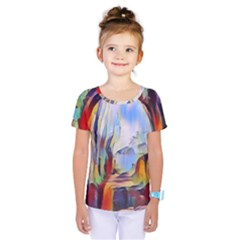 Abstract Tunnel Kids  One Piece Tee