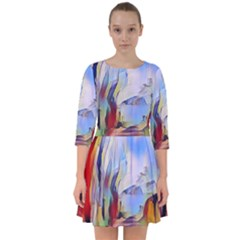 Abstract Tunnel Smock Dress