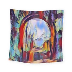 Abstract Tunnel Square Tapestry (small)