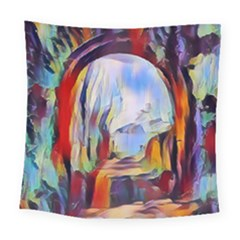 Abstract Tunnel Square Tapestry (large)