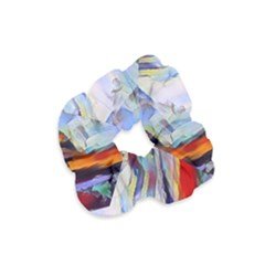 Abstract Tunnel Velvet Scrunchie
