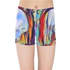 Abstract Tunnel Kids Sports Shorts
