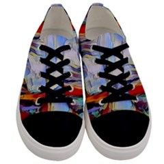 Abstract Tunnel Men s Low Top Canvas Sneakers