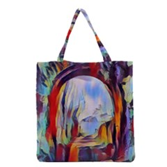 Abstract Tunnel Grocery Tote Bag